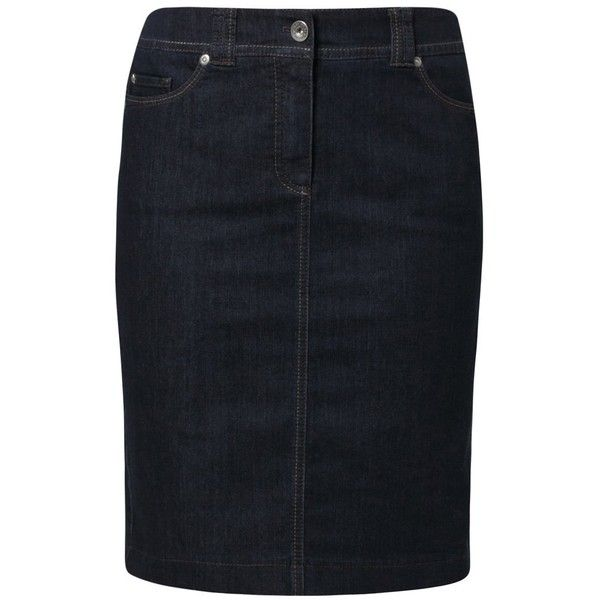 c490d47349 A dark denim skirt | (Gerry Weber Edition ROSE Denim skirt (£75) found on  Polyvore)