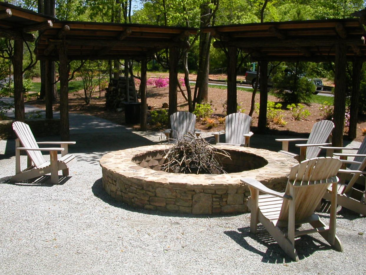 Backyard Fire Pit Area Regarding Backyard Fire Pit Area by