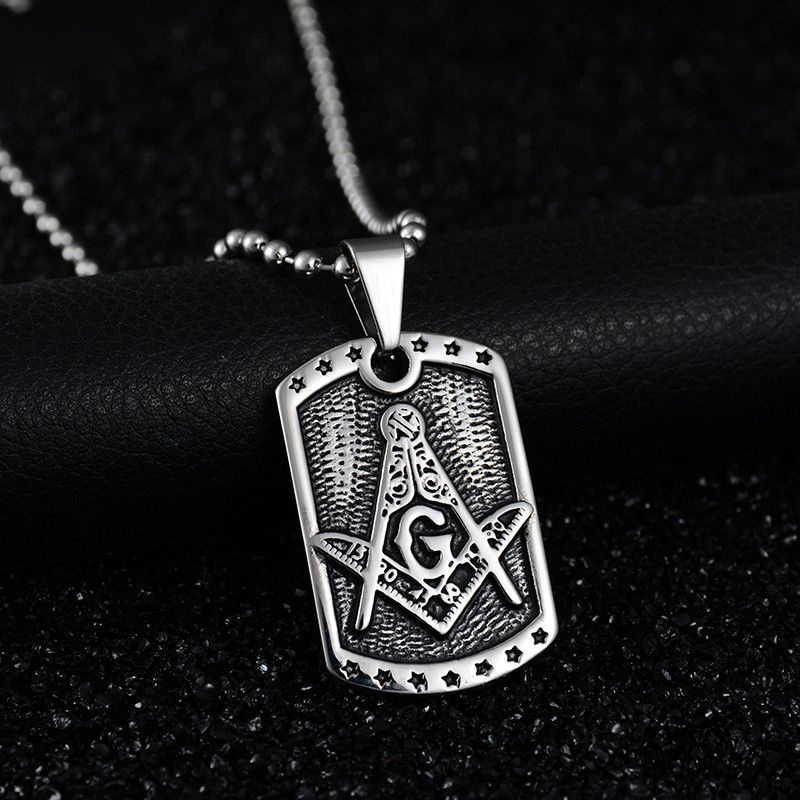 2017 retro plate mason necklace freemason pendants and products wow check out this titanium freemason dog tag pendant made of high quality stainless steel with titanium coating aloadofball Gallery
