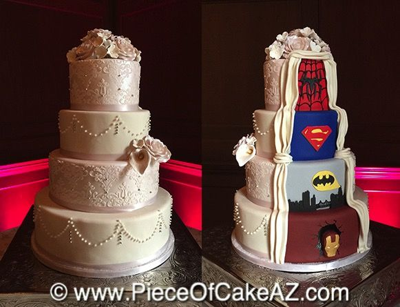 Piece Of Cake Superhero Wedding Cake Wedding Cake Decorations Superhero Wedding