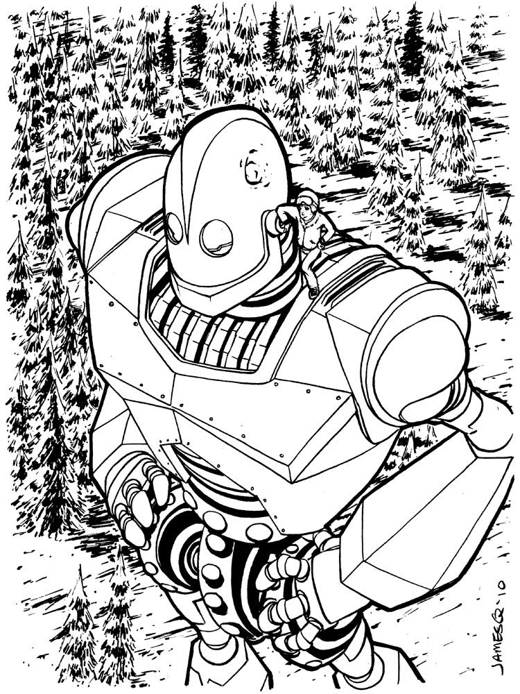 Iron Giant By James Q Nguyen The Iron Giant Coloring Pages Ilustration Art
