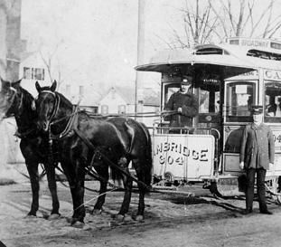 Horse-drawn Trolley, Broadway | The Cambridge Historical Society