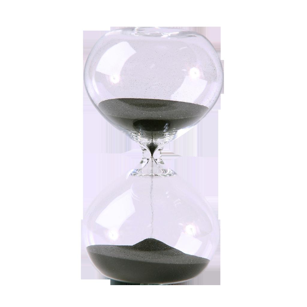 Hourglass SandTimer 60 Minute 6.7 inch Black