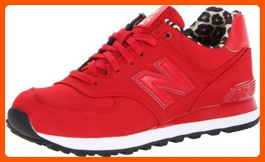 New Balance Women's WL574 High Roller Collection Running Shoe,Red,5 ...