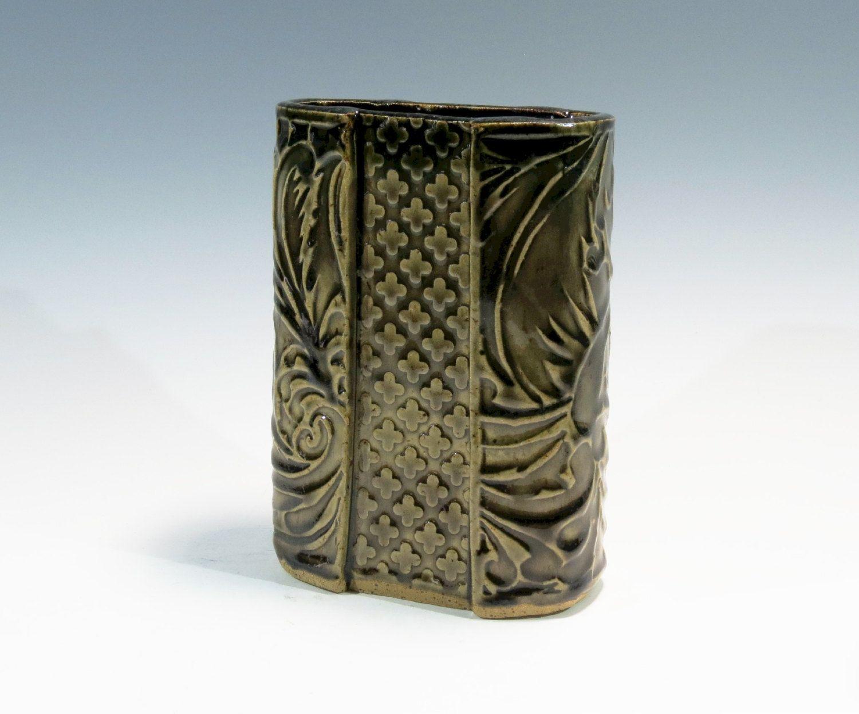 Slab built ceramic vase handbuilt ceramic vase textured slab slab built ceramic vase handbuilt ceramic vase textured reviewsmspy