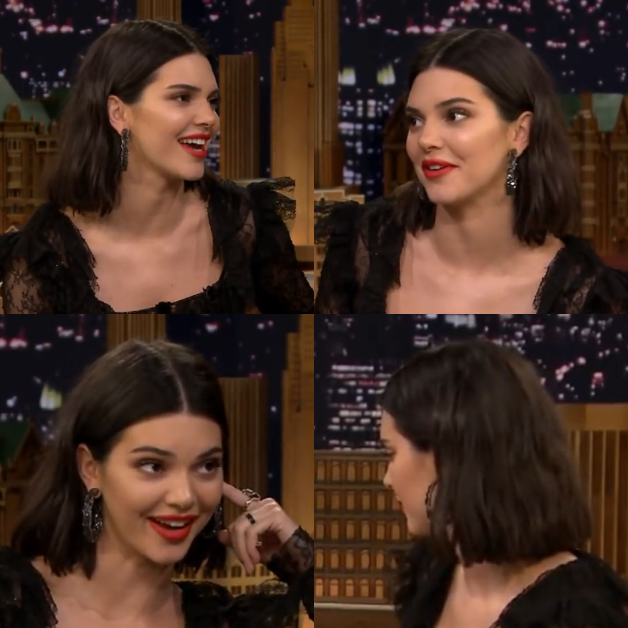 Kendal Jenner Jimmy Fallon  September interview hair inspiration