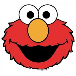 Template of Elmos face for printing Also like the idea of kids
