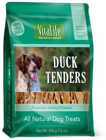 Vitalife All Natural Dog Treats Duck Tenders 454 G Natural Dog