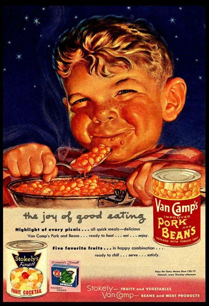 Van Camp's Pork & Beans Vintage Ad Vintage ads, Vintage