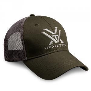 ***Vortex Green and Grey Mesh Hat