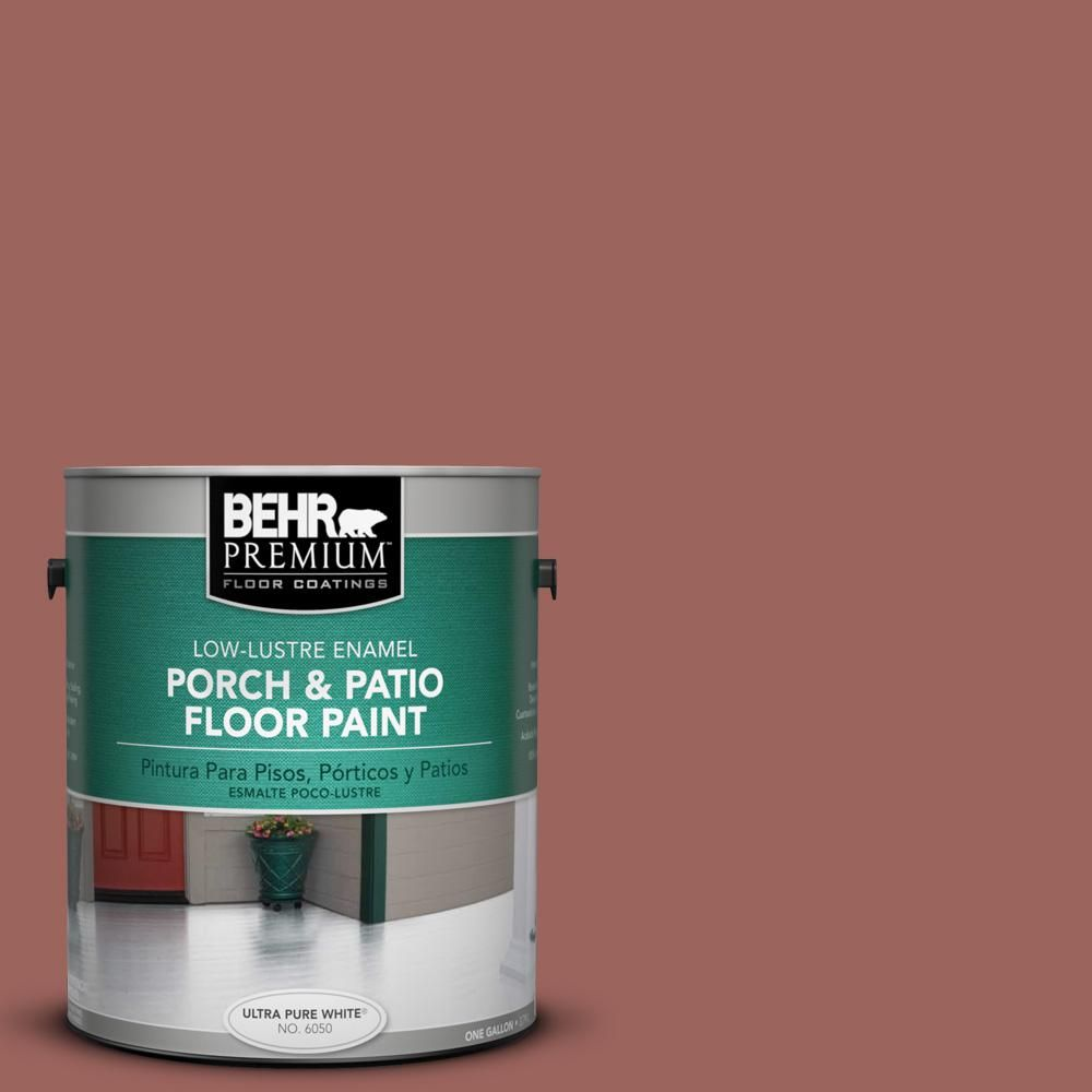 BEHR Premium 1 gal. #ecc-34-3 Terra Cotta Sun Low-Lustre Porch and Patio Floor Paint