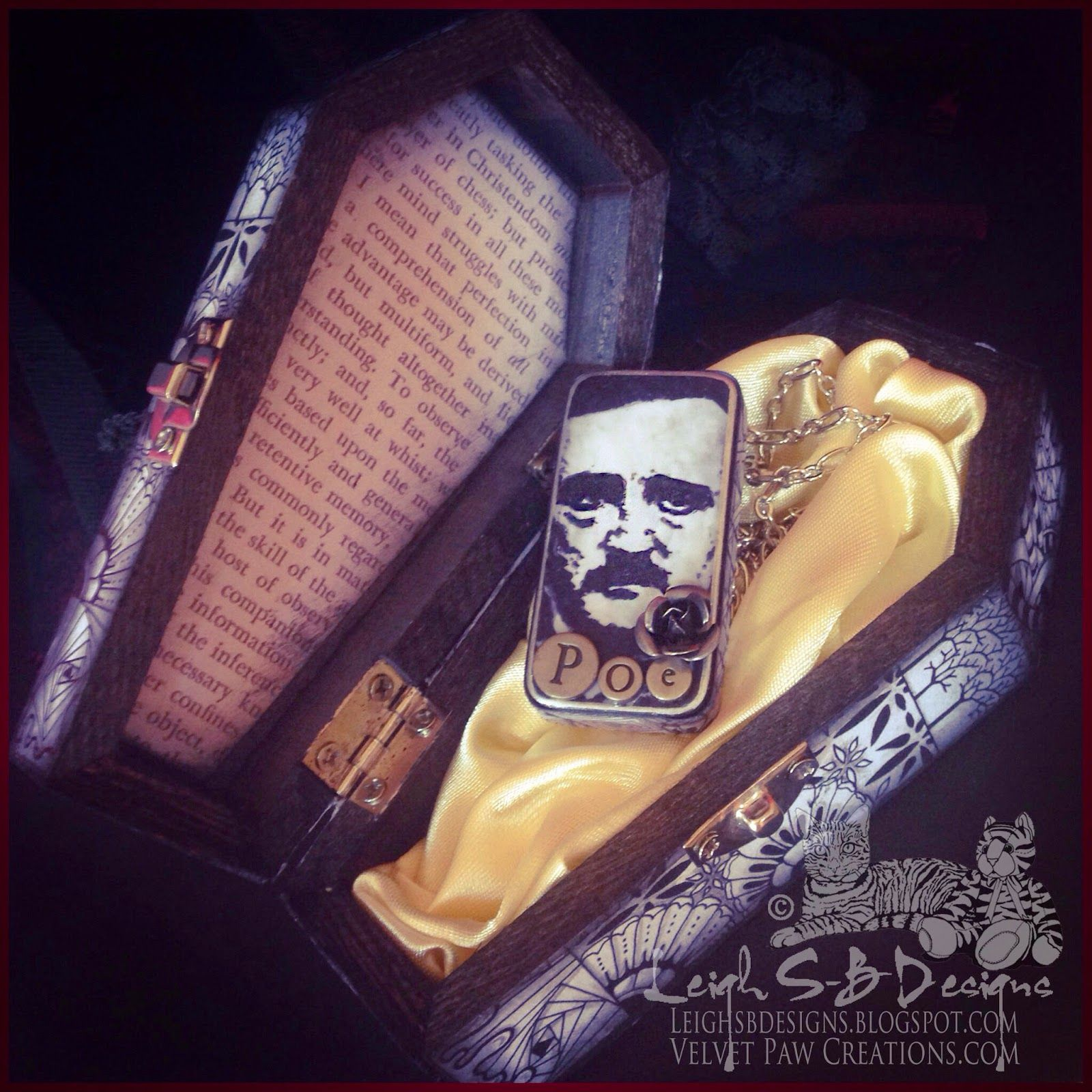 DominoART: Day 10: A Tribute to Poe + Introducing Rubber Stamps by Leigh S-B aka The Sharpie Domino Queen!