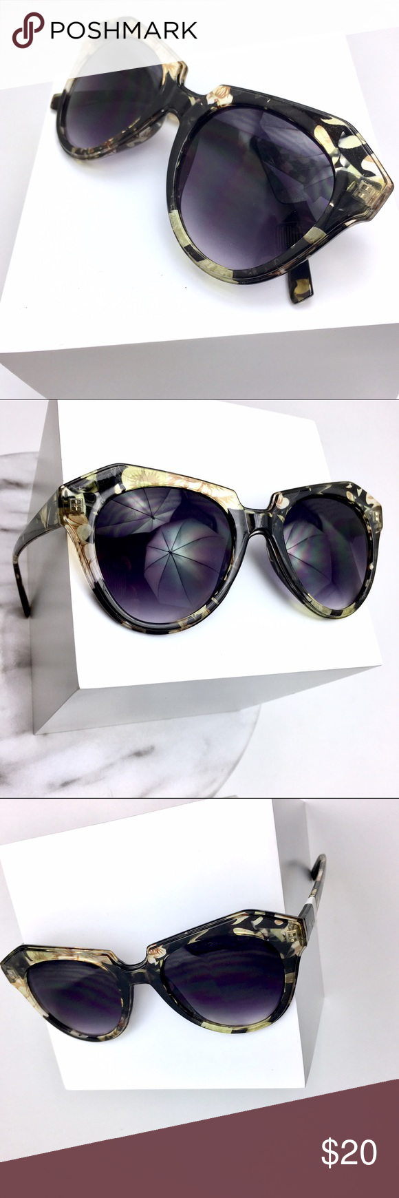 Free People Green Abstract Print Sunnies Beautiful Green printed style sunglasses from Free People. Be fancy and Gorg in these sunnies. This come with no case. Brand New. Free People Accessories Sunglasses