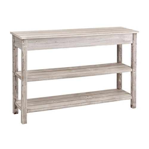 Whitewash Double Shelf Console Table | Kirklands | home decor ...