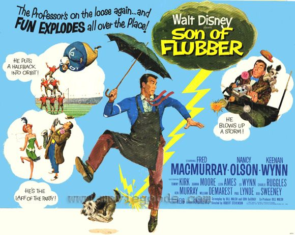 Image result for SON OF FLUBBER MOVIE POSTER