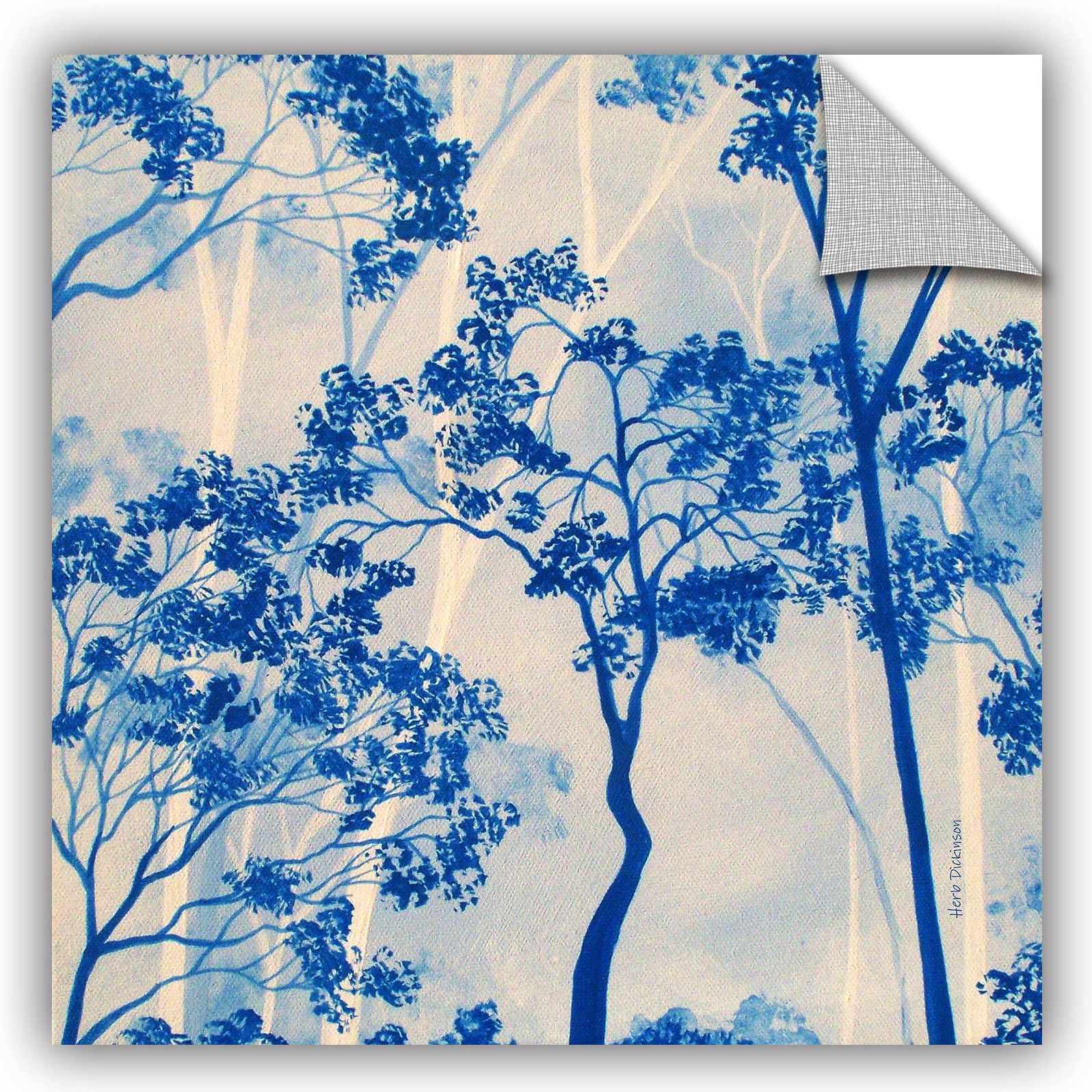 Herb Dickinson Azul Forest 2 Wall Decal