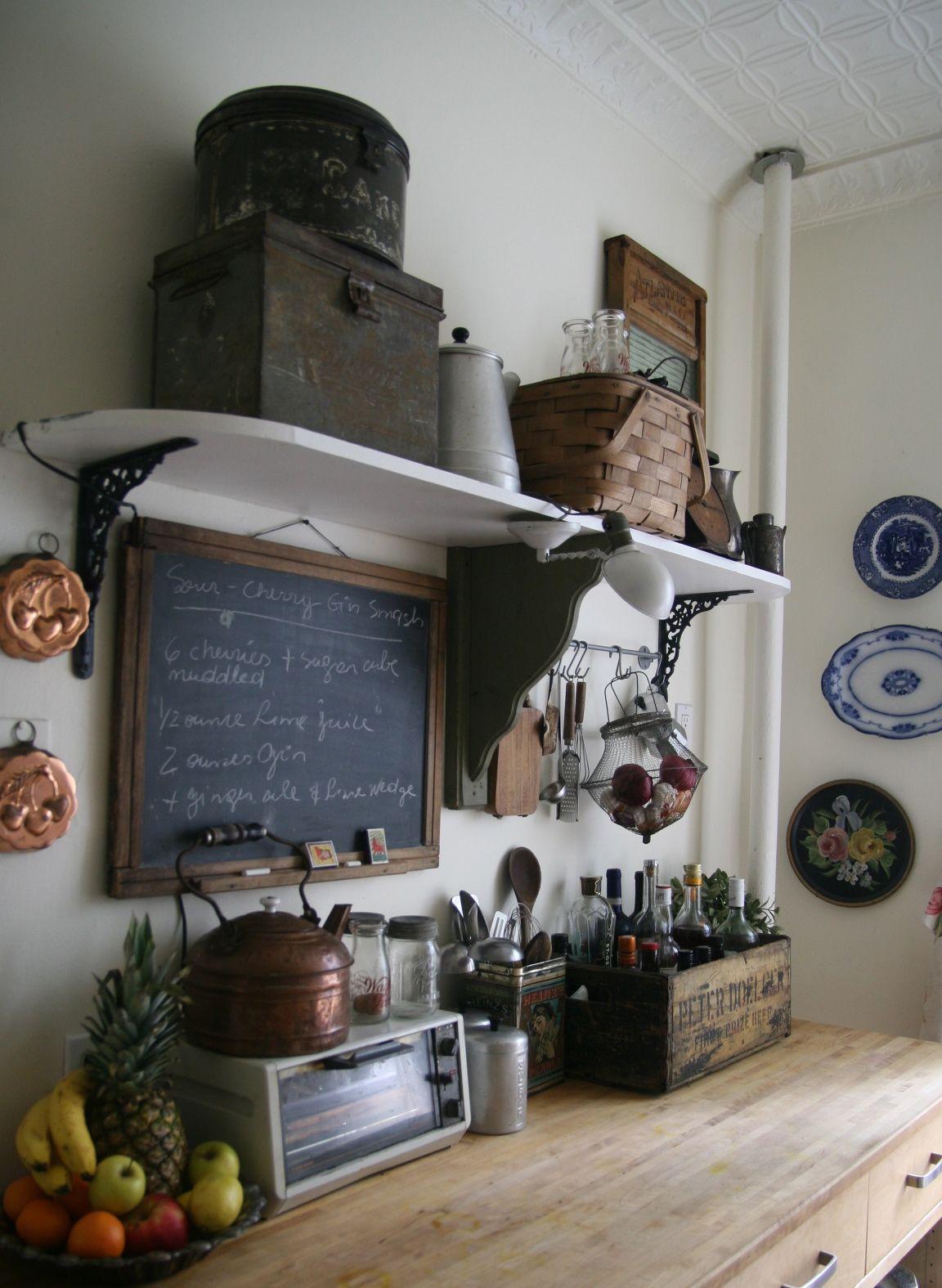 Le charme d 39 une cuisine rustique cuisines et salles a - Refaire sa cuisine rustique en moderne ...