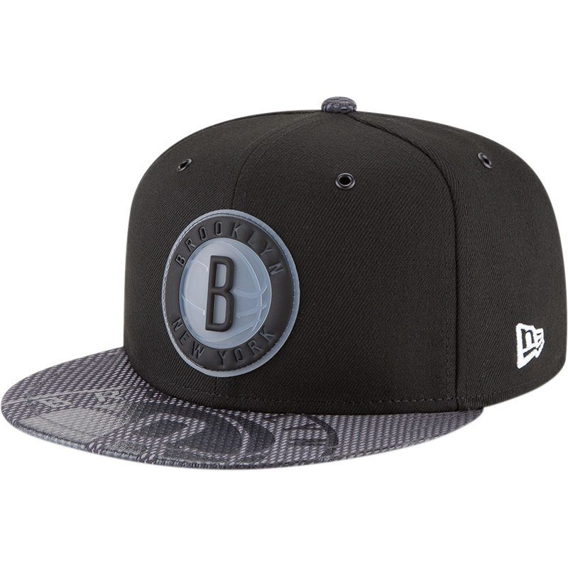 new style 2781e d455b Brooklyn Nets New Era Team Color On-Court 9FIFTY Snapback Adjustable Hat -  Black