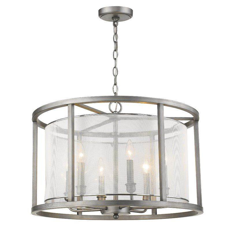 Fleeton 5 Light Drum Chandelier Brushed Nickel Chandelier
