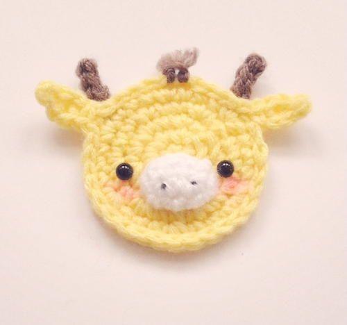Cutest Crochet Giraffe Applique Giraffe Free Crochet And Crochet