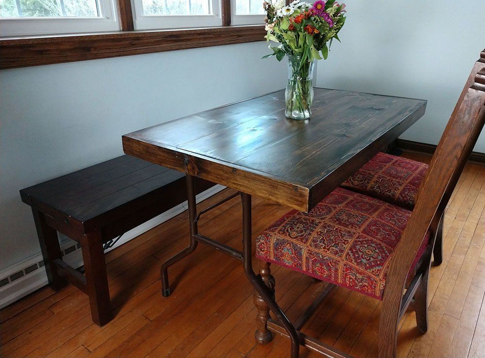 How To Upcycle A Round Folding Table Into A Beautiful Dining Table