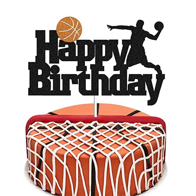 Basketball Cake Topper Basketball Scene Themed Cake Fruit Picks For Man Boys Birthday Event Basketball Birthday Cake Basketball Cake Happy Birthday Basketball
