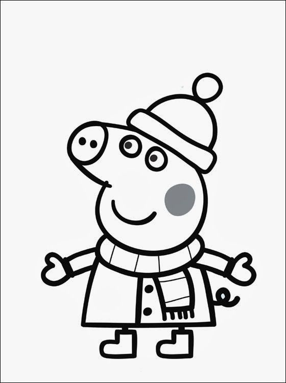 dibujos para colorear online peppa pig felt quiet books