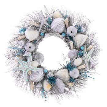 beach holiday party wreath 18 - Beach Christmas Wreath