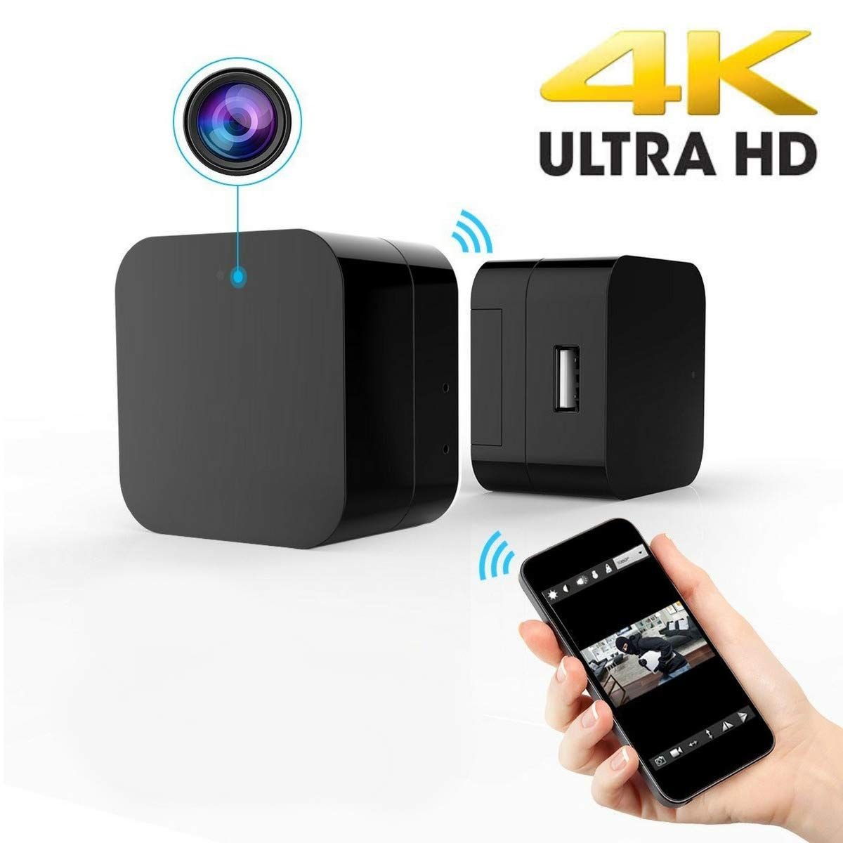 Amazon com : Usb Camera Wall Charger 4K - Spy Cameras Wifi - Hidden