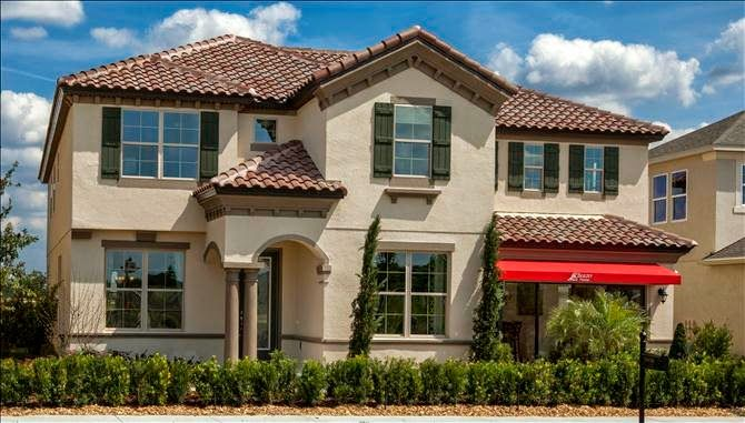 Orlando New Homes Beautiful Tile Roofs In The Model From Beazer Orchard Hills Winter Garden Florida