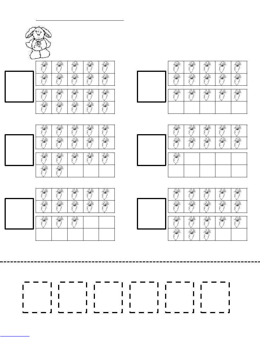 Counting Carrots Ten Frame Worksheet Scribd Math