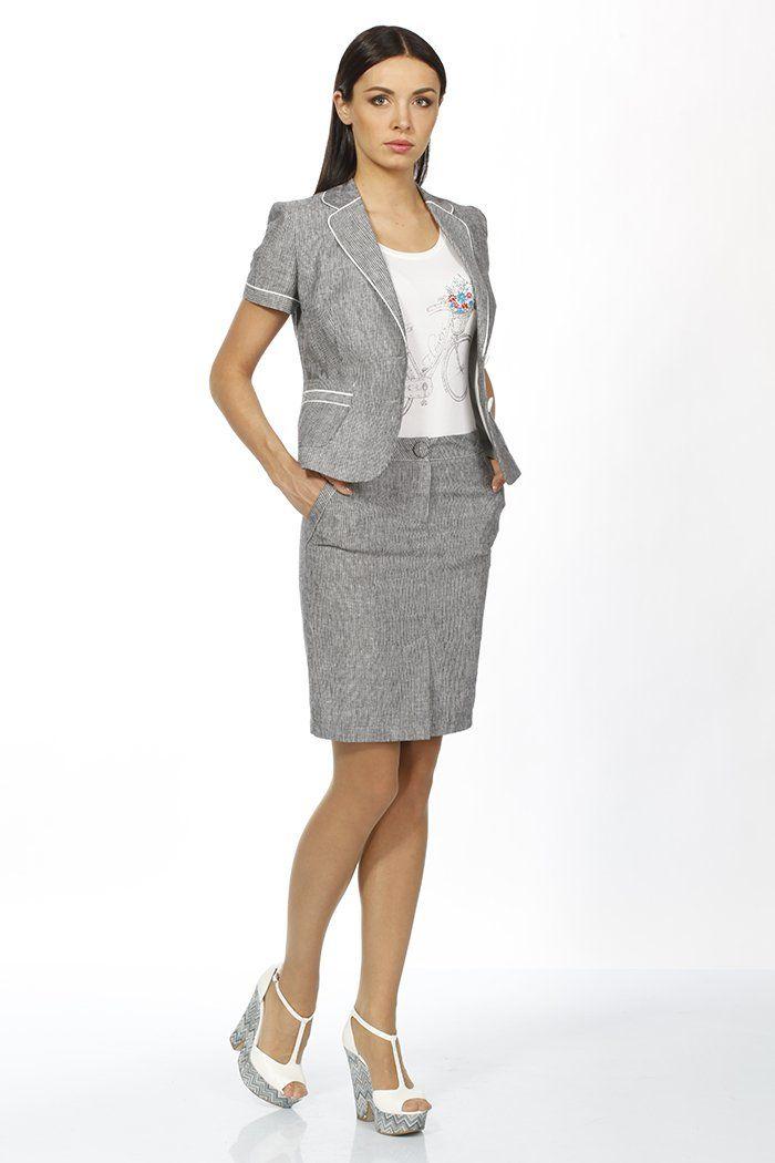 летний женский деловой костюм фото