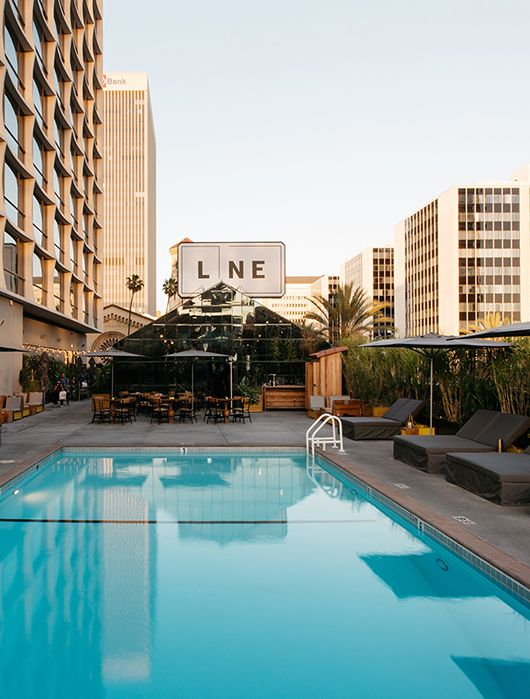 Rooftop Pool At The Line Hotel In Los Angeles Sfbybay