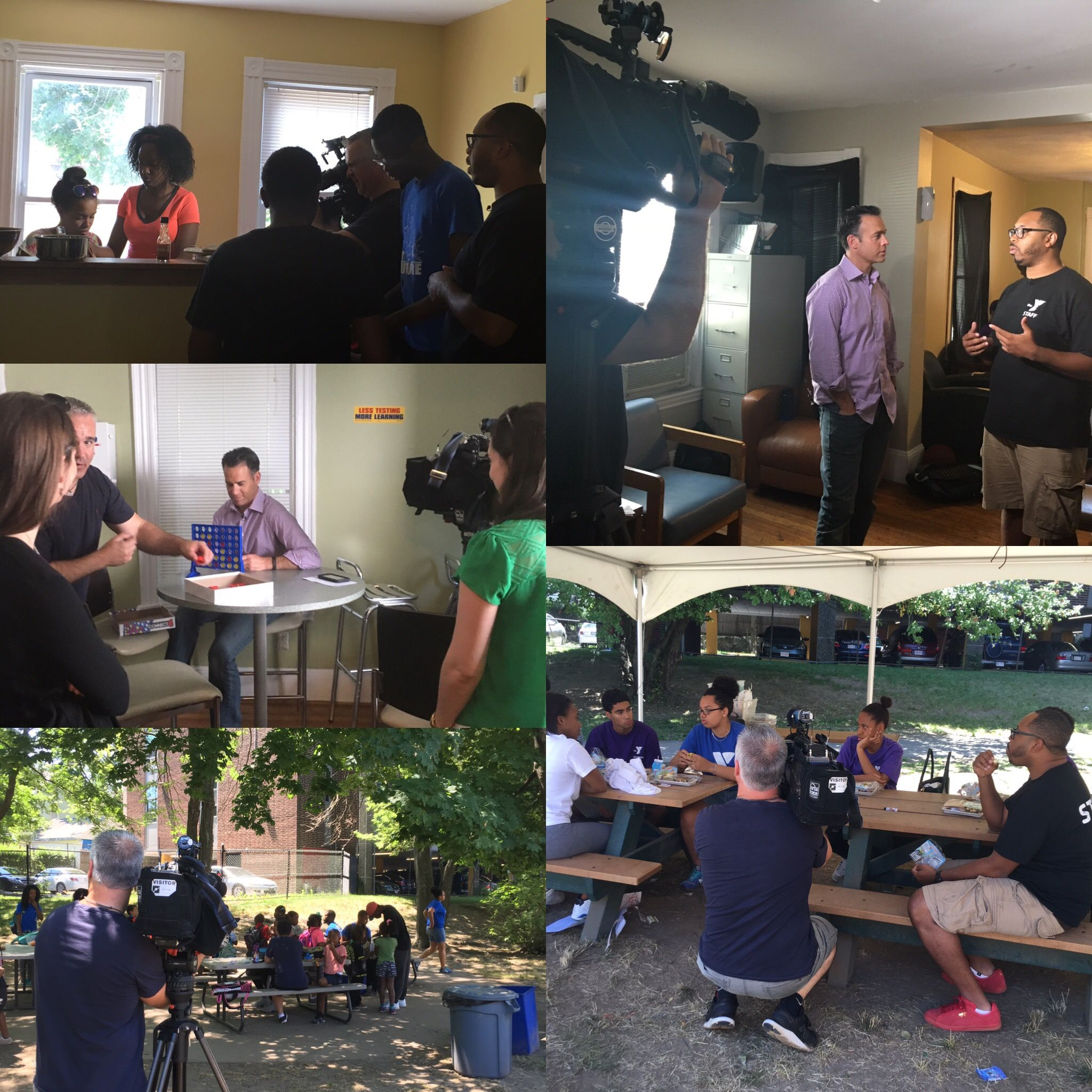 We Spent The Day With Necn At The Ymca Of Greater Boston S Dorchester Branch For A Filming Out The Organization S Get Summe With Images Summer Program Ymca Media Relations
