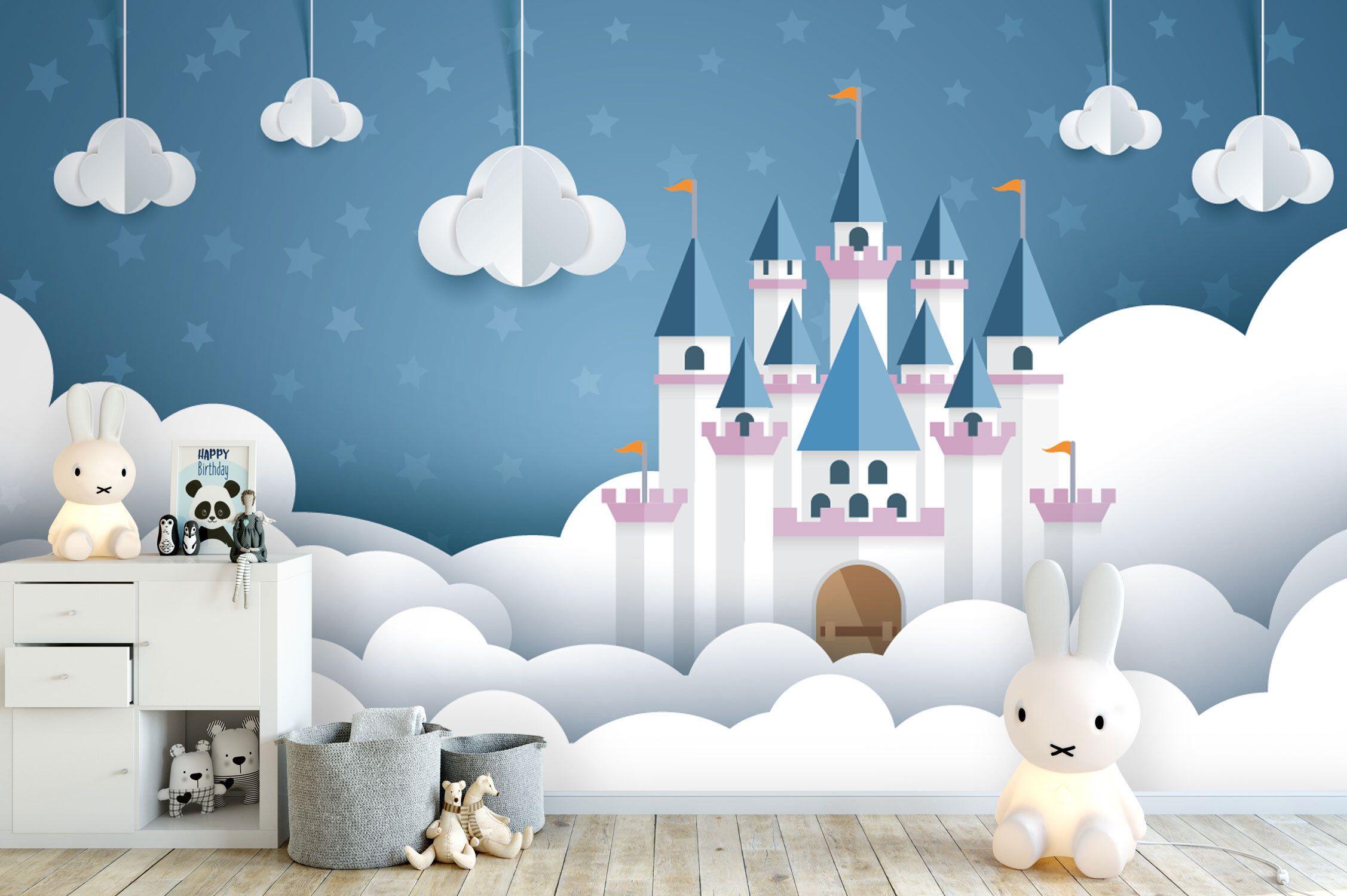 Tapete, Fototapete, Kinderzimmer, Babyzimmer, Schloss