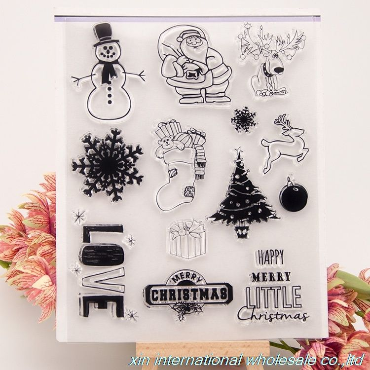Christmas Snowman Silicone Clear Seal Stamp DIY Scrapbooking Embossing Photo Album Decorative Paper Card Craft Art Handmade Gift