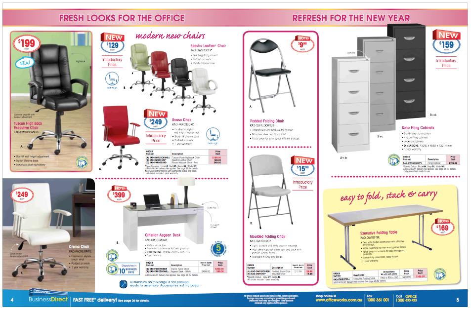 Officeworks Furniture Catalogue | Sequera Studio Portfolio