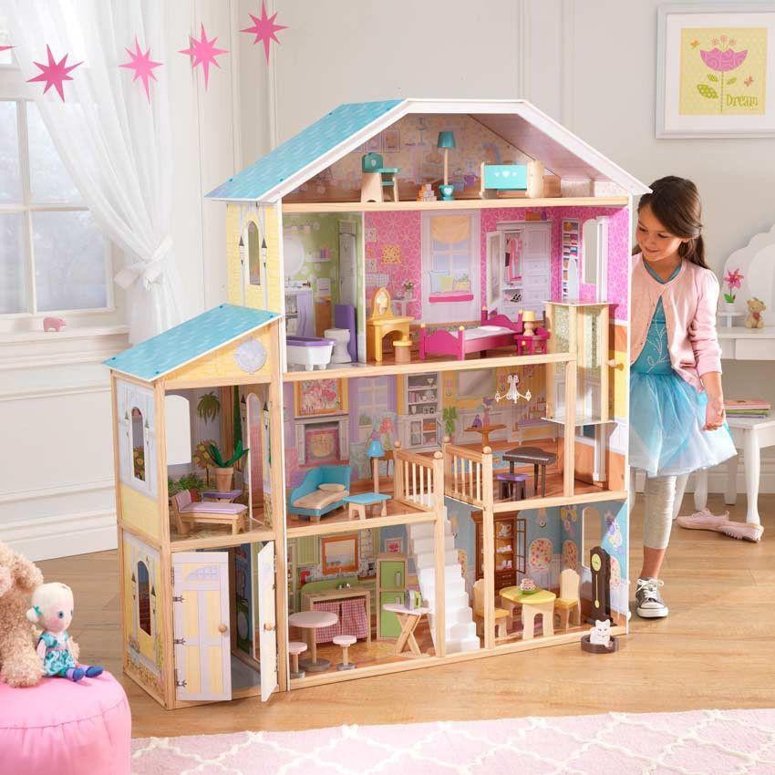 Maison de poupée Majestic Mansion | Elle peut, Hauteur et Heures