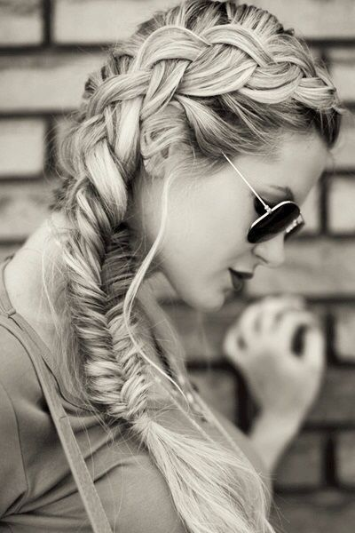 Fishtail Braid Ponytail for Long Hair