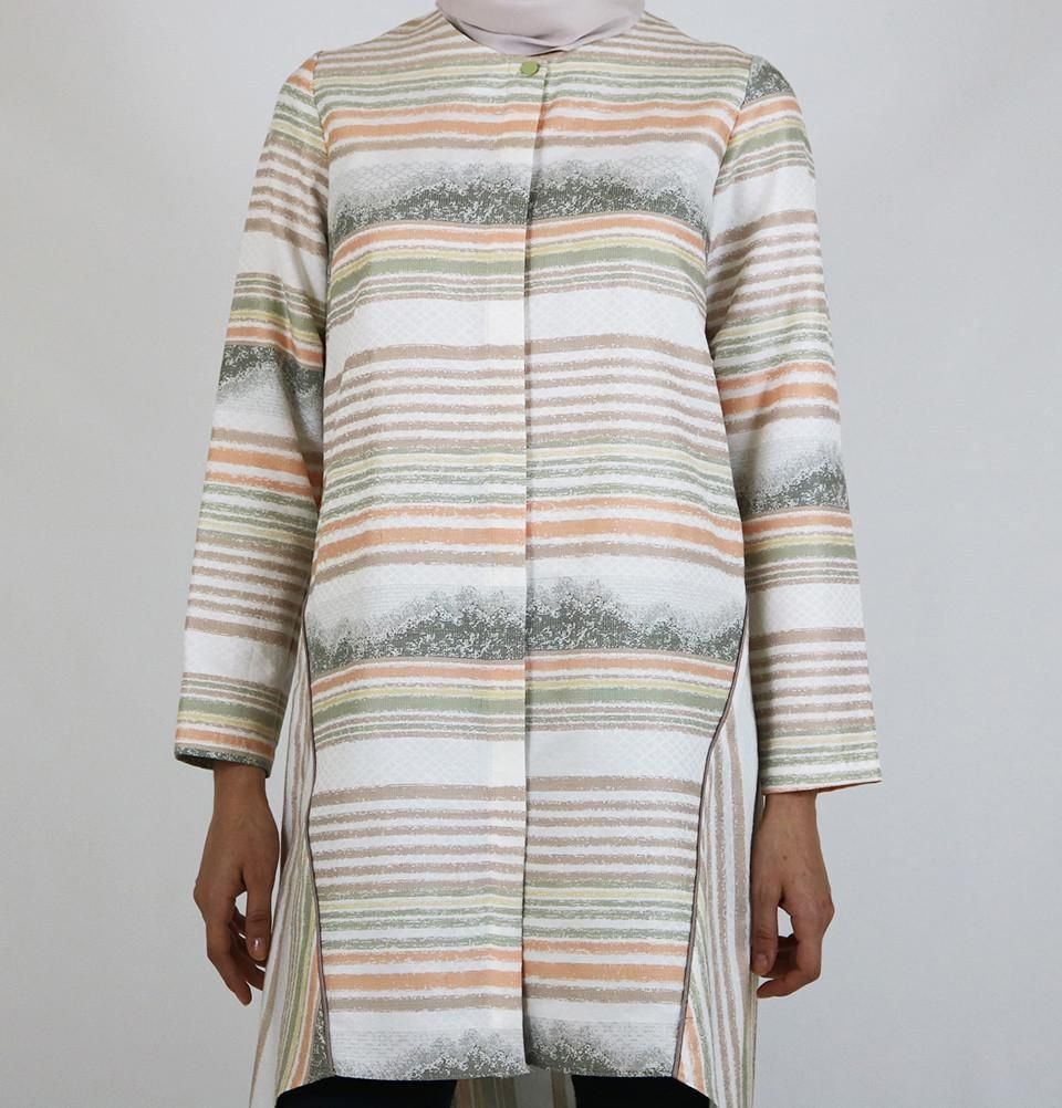 Puane Simple Striped Tunic Lightly Fitted Tunic Hidden