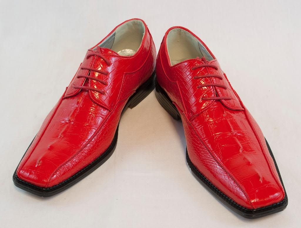 New Bolano Red Mens Dress shoes Laceup faux leather. HN897-005 in ... 3a4dc6a2430