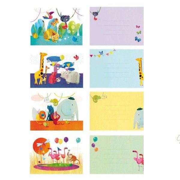 Djeco Einladungskarten Kindergeburtstag Tiere Savanne Und Dschungel Mit  Umschlägen   Bonuspunkte Sammeln, Kauf Auf Rechnung