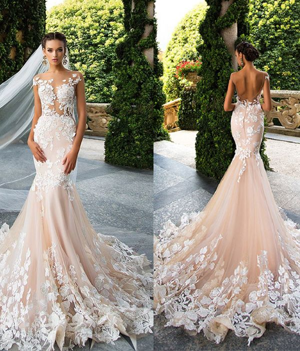 2017 Hot Fl Lace Wedding Gowns
