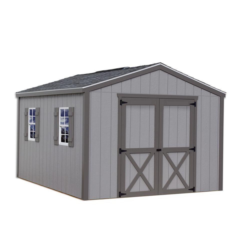 elm 10 ft x 12 ft wood storage shed kit clear wood storage