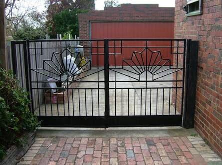 Door Idea Art Deco Door Fence Design Wrought Iron Gates