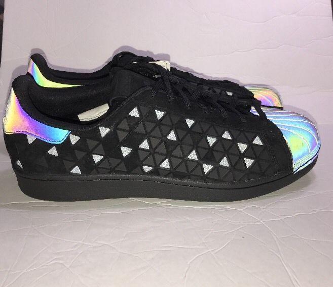 7a5cb0ddd ADIDAS Mens Sz 11 SUPERSTAR XENO AQ8184 BLACK CASUAL LIFESTYLE SHOES  120  NWOT  adidas  AthleticSneakers