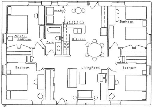 Summer Breeze Strawbale House Affordable House Plans 4 Bedroom House Plans Four Bedroom House Plans