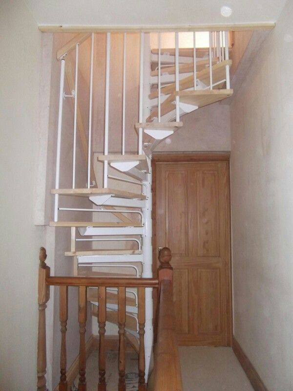 Best Spiral Stairs Tight Corner Attic Bedroom In 2019 Loft Staircase Loft Conversion Stairs 400 x 300