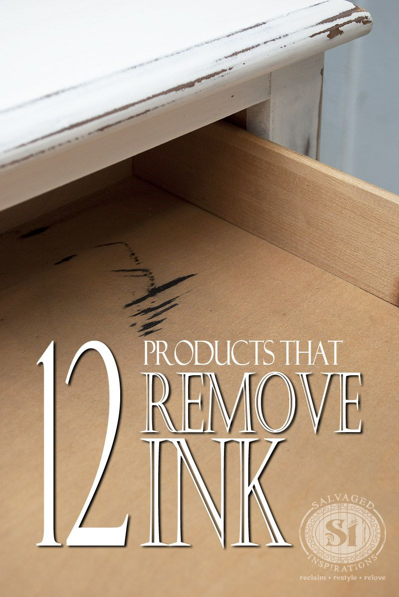 quick tip tuesday 12 products that remove ink stains from wood rh pinterest com