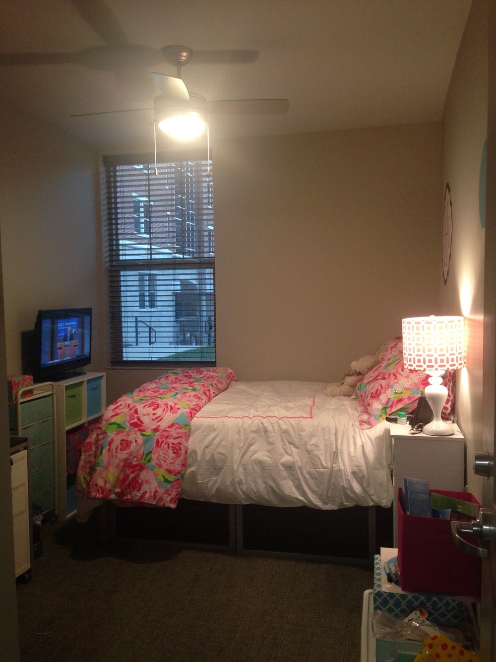 University Of Kentucky Dorm With Lilly Pulitzer Bedding In